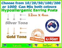 10/20/50/100/200/1000 Earring Stud Posts Findings 4mm Pads DIY Jewellery Pad
