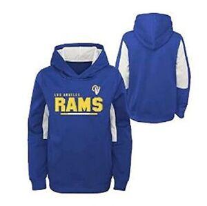 Los Angeles Rams Youth Boys Long Season Performance Pullover Hoody Sweatshirt