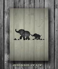 Elephant Template | Elephant Stencil In Craft Stencils Templates Ebay