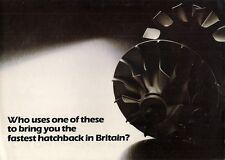 Mitsubishi Colt Mirage 1400 Turbo 1982 UK Market Launch Foldout Sales Brochure