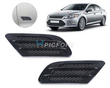 Auto Side Air Vent Decoration Sticker Fender Cover Hole Intake Duct Flow Grille