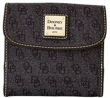 Nwt $168 Dooney & Bourke Signature Anniversary Credit Card Wallet Charcoal/Black
