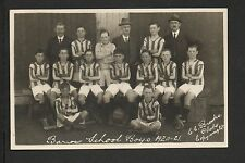 Barrow in Furness - Barrow Schoolboys Football -  real photographic postcard