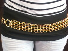 STUNNING GOLD EFFECT THICK HOOP STYLE BELT