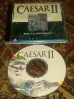 Caesar II 2 Sierra PC CD -Rom RTS Strategy Game 1995 CD Near mint disc