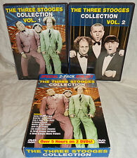 THE THREE STOOGES--COLLECTION--OVER 5 HRS AND TWO DVD'S--L@@K