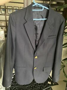 Authentic Polo Ralph Lauren Navy And Gold  Blazer