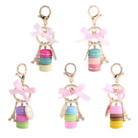 Colorful Cute Alloy Macaroon Keychain Keyring Bag Pendant Car Charm Decoration