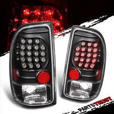 97 98 99 00 01 02 03 04 Dodge Dakota Black LED Tail Lights Rear Brake Lamps Set
