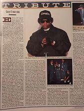Vintage Easy-E 1995 Tribute Pinup Poster N.W.A Dr. Dre Bone Thugs 'n Harmony RIP