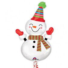 Smiley Forma Pupazzo di Neve Natale Palloncino Stagnola Elio Palloncino Festa Decorazione
