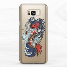 Case For Samsung S8 S9 S10 S20 Note 8 9 10 Japanese Koi Fish Sea Wave Aesthetic