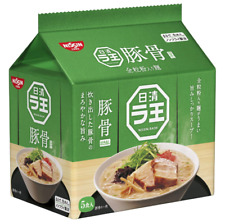 Nissin Raoh Instant Ramen 5 packs pork bone TONKOTSU JAPAN Import F/S NEW