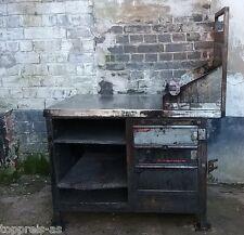 Metall Werkbank Loft Möbel Arbeitstisch Industriedesign Vintage ArtDeco Shabby
