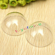 Hot Plastic Round Ball Christmas Clear Bauble Ornament Gift Present Xmas Craft