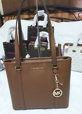 Michael Kors Small Sady Top Zip Tote Bag in Luggage 35T7GD4T2L