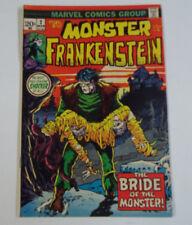 Frankenstein #2 (1st Print) 8.0 VF Marvel 1972