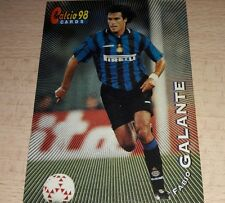 CARD CALCIATORI PANINI 98 INTER GALANTE CALCIO FOOTBALL SOCCER ALBUM