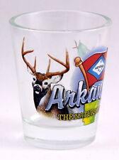 ARKANSAS NATURAL STATE ELEMENTS SHOT GLASS SHOTGLASS