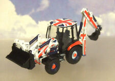 OXFORD 1/76 JCB 3CX BACKHOE LOADER EXCAVATOR/DIGGER UNION JACK LIVERY 763CX002