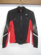 Performance Cycling Jacket shell layer black & red lightweight full zip sz M