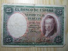 BILLETE DE  25 PESETAS DE  1931