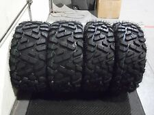 "27"" QUADKING ATV / UTV TIRES FULL COMPLETE SET 4 - 27X9-14  27X11-14  BIGGHORN"