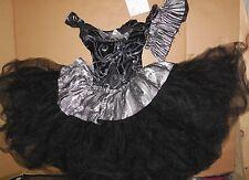 NEW Ballet costume BLACK SILVER ADULT Small ADULT European tutu GLITTERED