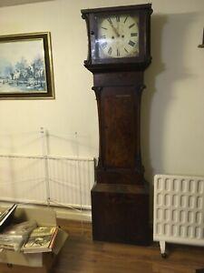 Antique Grandfather Longcase 8 Day Clock