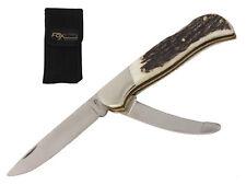 Taschenmesser Trachtenmesser Aufbruchklinge Horngriff Muela 72619