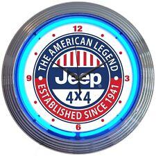 JEEP 4X4 - The American Legend Established Since 1941 Neon Clock - Wrangler - CJ