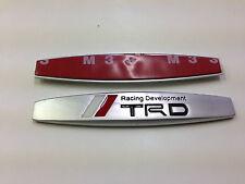 2PCS TRD RACING METAL SIDE REAR FENDER EMBLEM BADGE STICKER SIZE 98MM