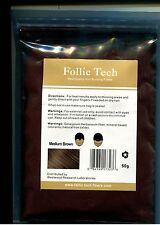 Vegan Hair Building Fibers Refill Medium Brown 25g over 50,000 Sold on Ebay
