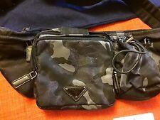RARE, NEW WITH TAGS ORIGINAL PRADA NYLON WAIST-BAG TESSUTO CAMOUF. BLACK M/ITALY