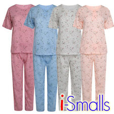 i-Smalls Ladies Pyjama Set Short Sleeve Floral Printed Buttoned Soft