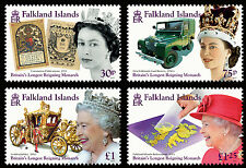 Falkland Is 2015 Longest Reigning Monarch 4v set SG 1324/7 MNH