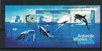 MAAT21) Australian Antarctic Territory 1995 Whales Dolphins M/S 'SINGAPORE'  MUH