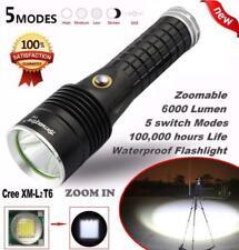 Focus 6000LM 5 modos CREE XM-L2 T6 LED 18650 Batería Linterna Lámpara de enfoque