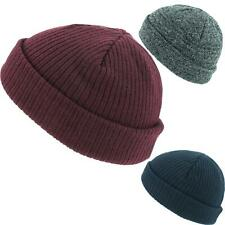 SKULLY BEANIE HAT RIBBED KNIT CAP FISHERMAN'S WINTER SKULLCAP