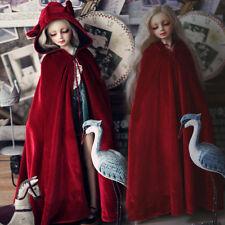 HOT New Dark Red Lotita Cat Ear Pleuche Coat/Cloak For 1/3 BJD DOLL Clothes