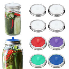 Fermentation Lids Waterless Airlock Silicone Fits for Wide Mouth Mason Jar, 4PCS