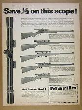 1958 Marlin Golden 39A Crown Prince 80DL 81DL 98 .22 22 Rifles vintage print Ad