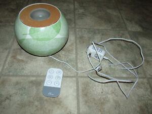 HOMEDICS ELLIA Ultrasonic Aroma DIFFUSER W/Music, Color Changing Lights, Remote
