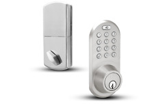 NEW MiLocks Bluetooth Keypad Deadbolt Door Lock Satin Nickel BLEF-02SN