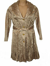 BNWT size 18 SPEZIALE by PER UNA crinkle effect GOLD COLOUR Ladies COAT
