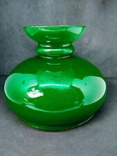 """7"""" Green Cased Glass Oil Kerosene Lamp Shade"""