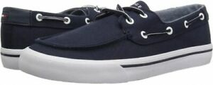 Tommy Hilfiger PHARIS Blue Fashion Sneakers CANVAS BOAT Shoes,US 11