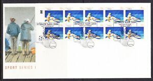 Australia 1989 39c Fishing Booklet  APM 21052   First Day Cover Sydney