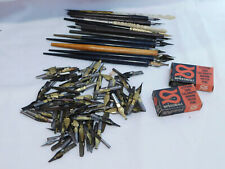 LOT OF 13 CALLIGRAPHY PENS & NIBS SPEEDBALL BOXES