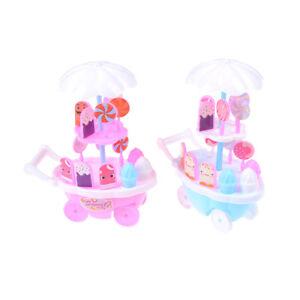 Doll toy trolley ice cream cart night point trolley children's toyXBUKYU